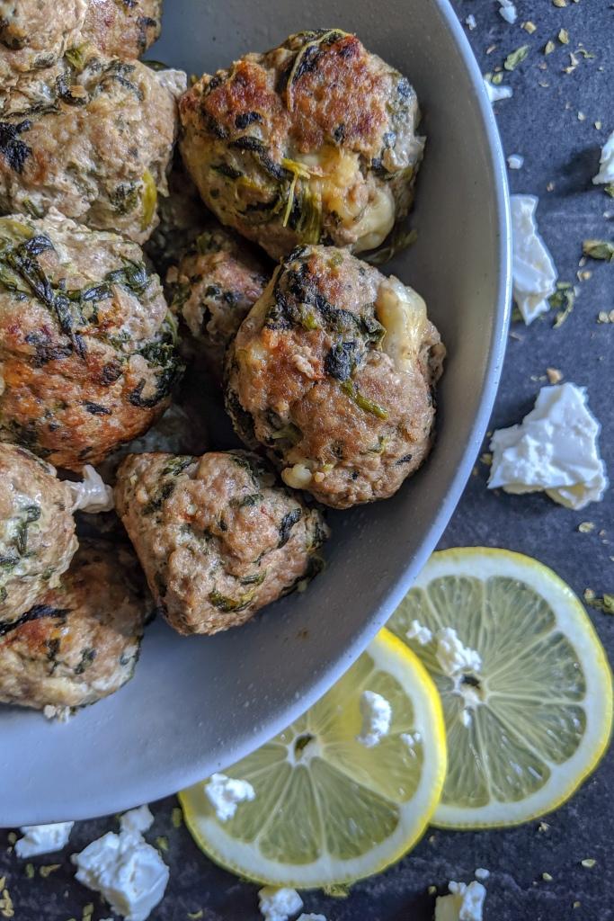 Spinach Feta Meatballs on Pinterest