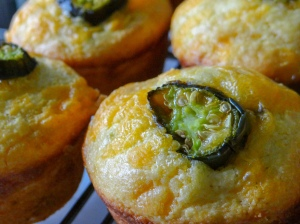 Muffins of Ice and Fire: Roasted Jalapeno Cheddar Corn Muffins